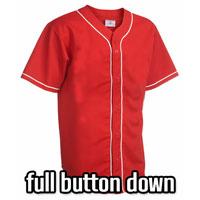 Full Button Down 6 Button Baseball Jerseys