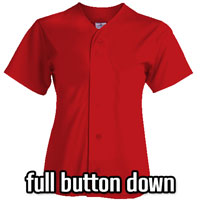 Full-Button Ladies Softball Jerseys