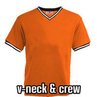 V-Neck Baseball Jersey and Baseball T-Shirts