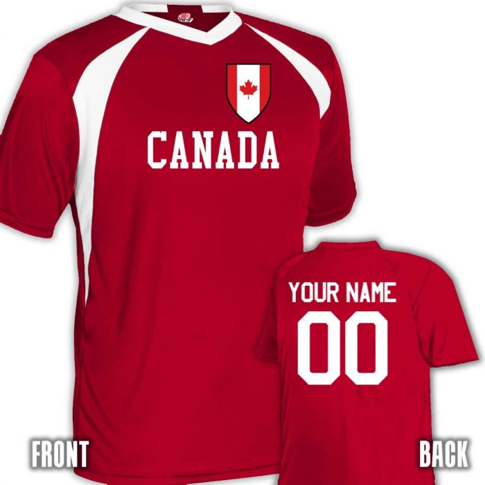 los angeles 6e1c8 2d3cb Custom Canada Soccer Jersey Shield Personalized with Name and Number