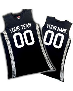 Matrix Mens Sleeveless V-Neck Customizable Basketball Jerseys