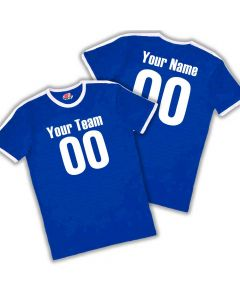 Custom Soccer Ringer T-Shirt for men with Your Team Name Player Name and Numbers