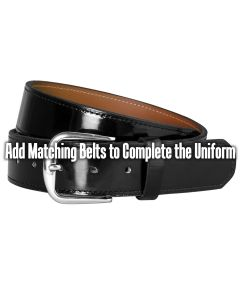 Patent Leather Traditional Baseball Belt