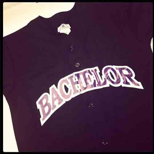 #Custom full button #baseball #jersey for #bachelor party