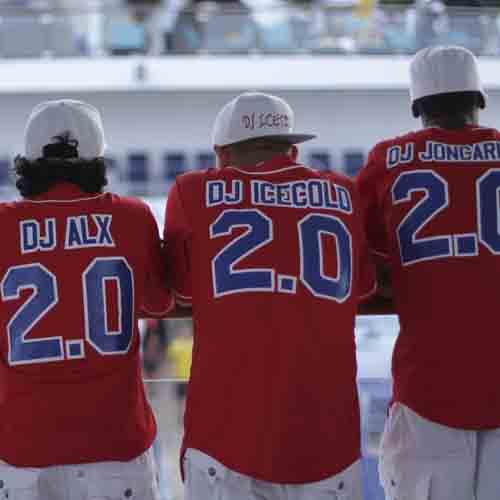 47c142e46fa Carnival DJ's wearing custom baseball jerseys