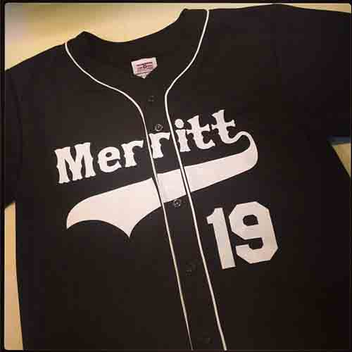 #Custom full button #baseball #jersey with braid and Western-style lettering with baseball tail