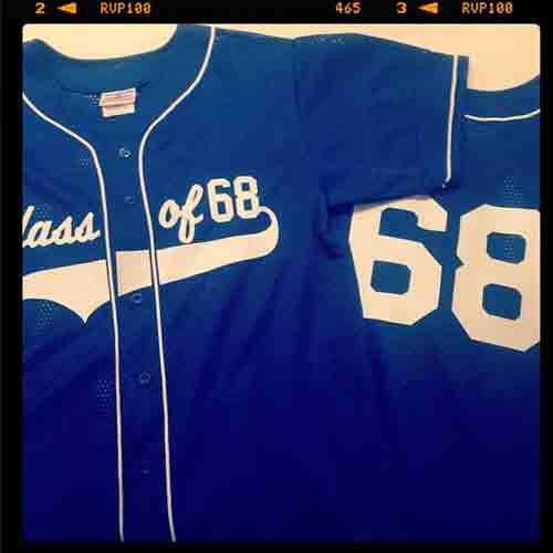 Relive past glories with #baseball themed #highschool #reunion #jerseys