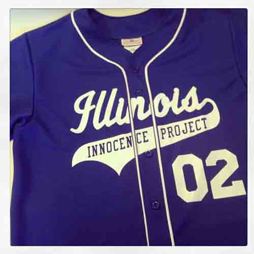 #Custom royal blue full button #baseball #jerseys for Illinois innocence project