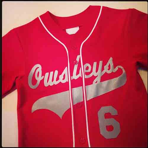 #Personalized Owsley's full button Scarlet and gray and white #baseball #jersey