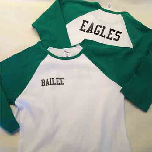 #Ladies @Bella color block three-quarter sleeve #custom #baseball #jerseys for the @Eagles