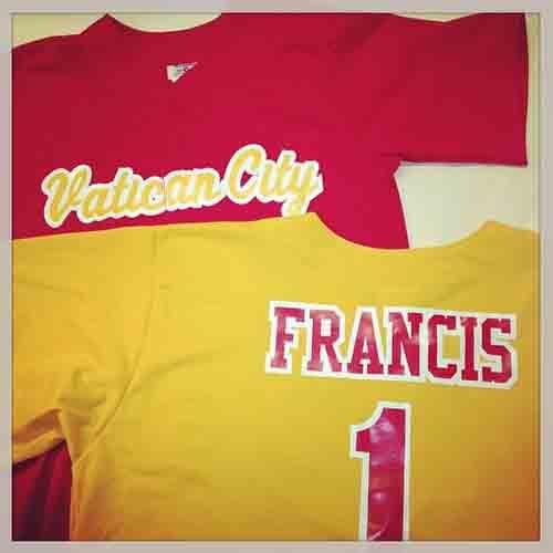 #popefrancis #custom #baseball #jerseys with #vatican city.