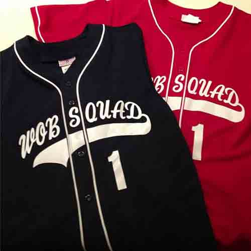 #Personalized full button #baseball jerseys with #arched name with tail