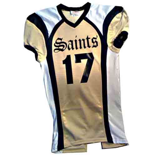 saints vegas gold custom football jersey with black and white trim fan wear  ... f05bbcb68