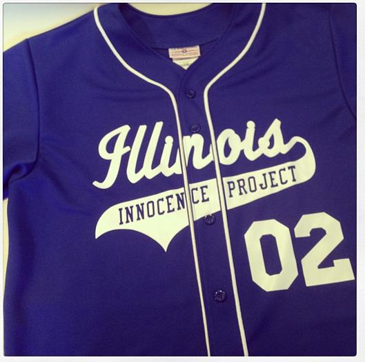custom-illinois-innocence-project-baseball-jersey corporate event promo charity