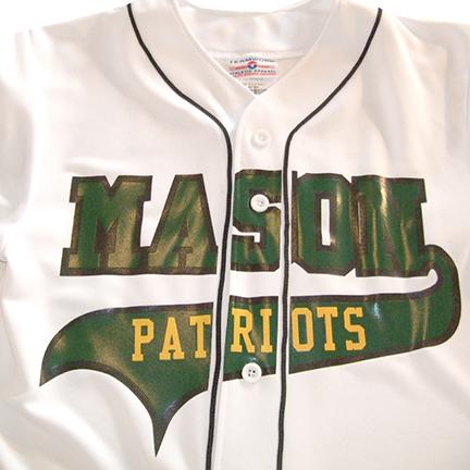 Mason Patriots Baseball Jersey with Black Piping