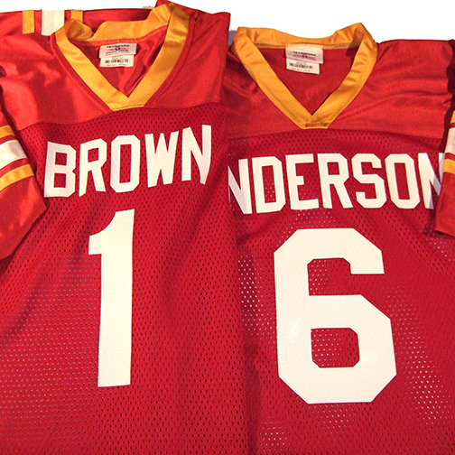 major team football jerseys in scarlet red gold and white