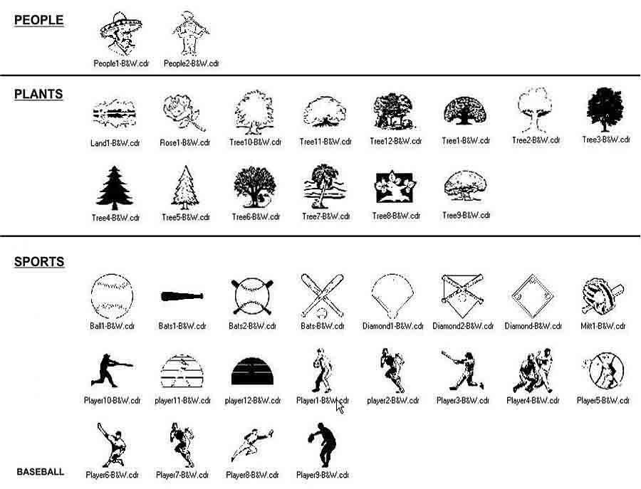 clip art people plants sports baseball