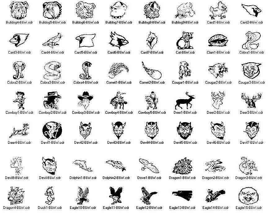 clip art mascots bulldogs to eagles