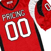 image of football jersey with the word pricing on it
